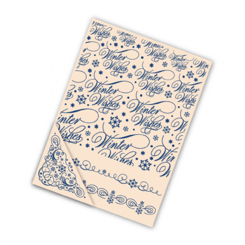 Tattered Lace Embossing Folder Winter Wishes - EF010